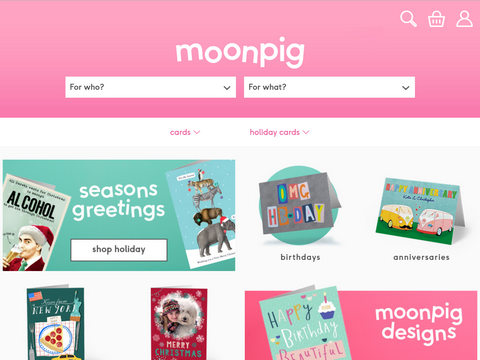 Moonpig - For the funniest, customisable real greetings cards on the web