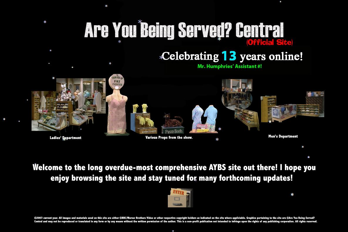 Official Are You Being Served? Central