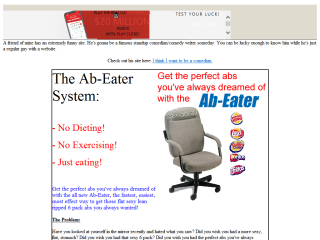 Ab-Eater parody - no dieting, no exercising, just eating!!
