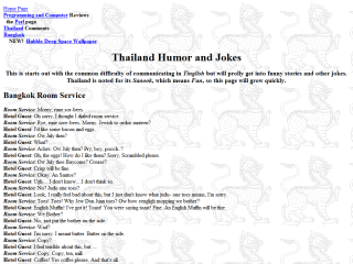 Thailand Humor and jokes