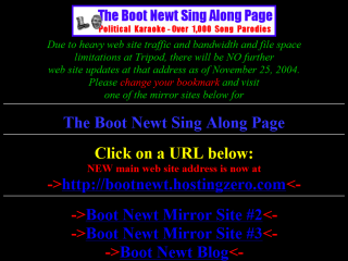 The Boot Newt Sing Along Page
