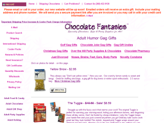 Gag Gifts from Chocolate Fantasies