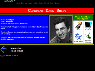 David Spark - Comedian Data Sheet