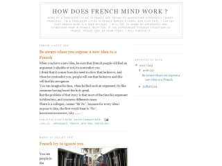How does french mind work ?