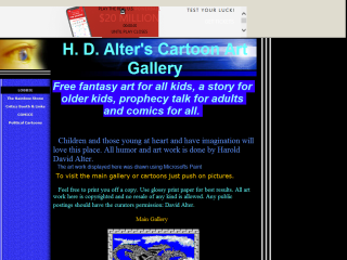 H . D. Alters  Cartoon Art Gallery