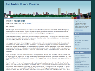 Joe Lavin's Humor Column
