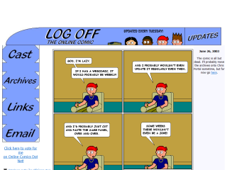 Log Off : The Online Comic