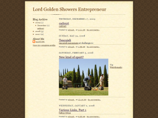 Lord Golden-Showers Entrepreneur