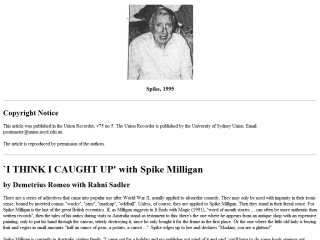 Spike Milligan Interviewed