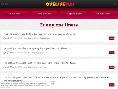 OneLineFun.com - Funny one-liners