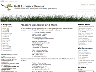 Golf Limerick Poems