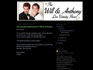 THE SHOWBIZ ADVENTURES OF WILL & ANTHONY