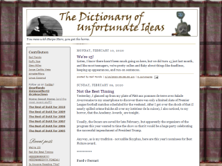 The Dictionary of Unfortunate Ideas