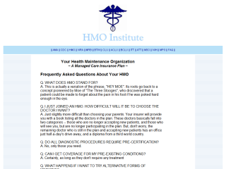HMO Institute - Frequently Asked Questions