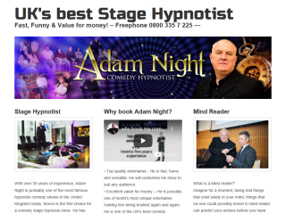 Adam Night comedy stage hypnotists show