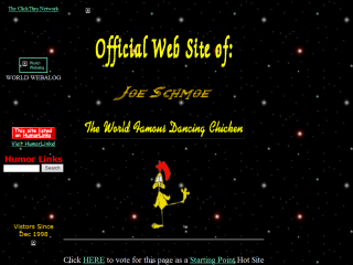 The Official Dancing Chicken Web Site