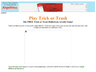 Play Trick or Trash - The Trick or Treat Halloween Arcade Game