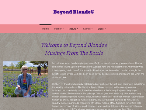 Beyond Blonde's Musings From the Bottle