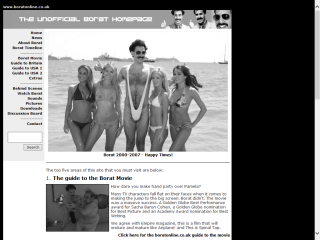 The Unofficial Borat Homepage