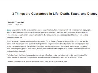 3 Things are Guaranteed in Life: Death, Taxes and Disney