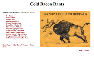 Coldbacon Rants