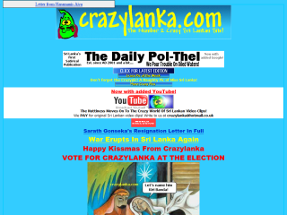 Crazylanka! The Number Two Crazy Sri Lankan Site