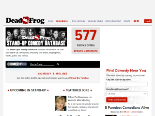 Stand-Up Comedy Database at Dead-Frog