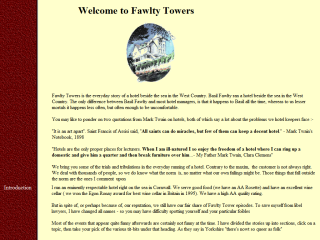 Fawlty Towers - the everyday story of a hotel owner