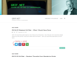 The Grif.net  Off the wall humor