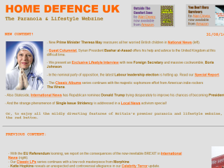 Home Defence UK - Paranoia & Lifestyle WebZine