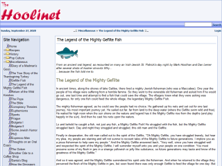 The Legend of the Mighty Gefilte Fish