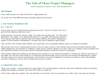 The Tales of Three Project Managers