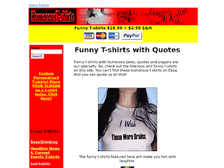 Humorous T-shirts Funny Quotes Jokes Slogans