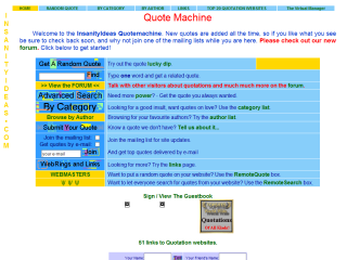 The InsanityIdeas QuoteMachine