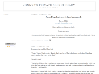 JonnyB's private secret diary