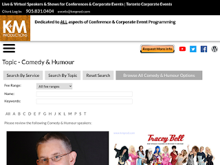 K&M Productions - Corporate Event Planners - The Comedy Page