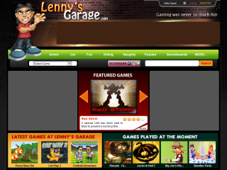 Lennys Garage Online Games and Fun