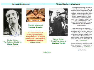 Leonard Rossiter: His Life & Career