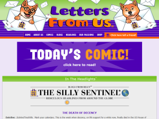 Letters from Us - comics and blogs