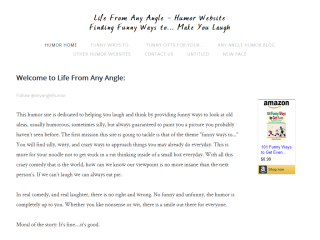 Life From Any Angle: Humor Website