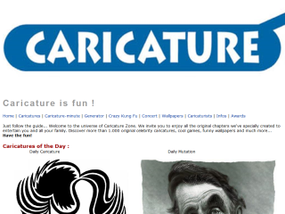 Caricature Zone: a great online toy