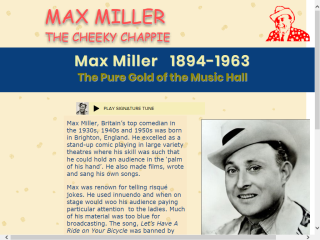 Max Miller - the Cheeky Chappie