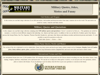 Military Quotes, Mottos, Jokes and Humor