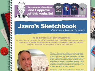 Jzero's Sketchbook Cartoons & Random Thoughts