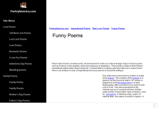Funny Poems and Limericks