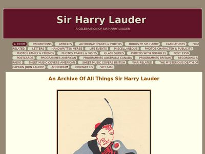 A Celebration of Sir Harry Lauder, Laird of the Music Hall