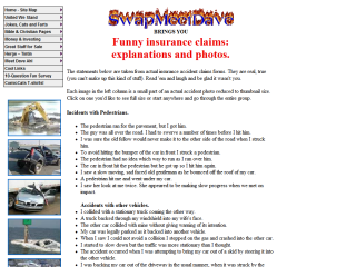 Accident Photos, Insurance Claims & Jokes