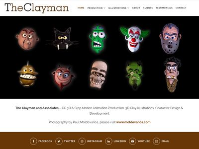 TheClayman.com Dimensional  Cartoons by Paul Moldovanos