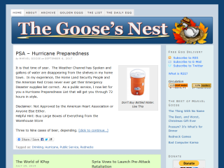 The Goose's Nest - Humor Column