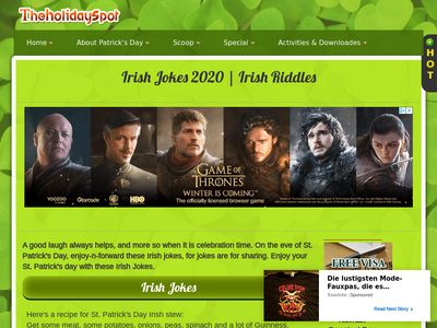 Free Irish jokes For St. Patrick's Day